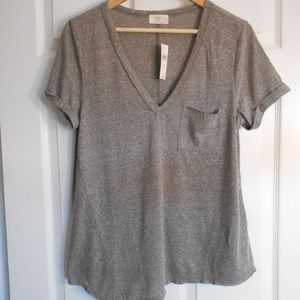 Anthropologie t. la gray knit top Small